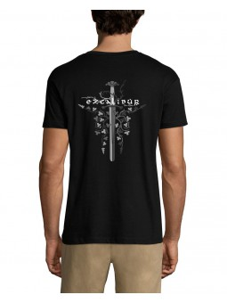 T Shirt Celtique - Excalibur Florale