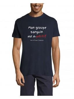 T-Shirt - Mon Groupe Sanguin est A-péritif